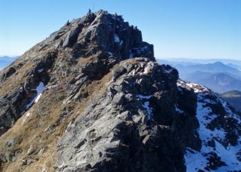 Závěrečná část výstupu na vrchol ze strany od Hrubé kopy.