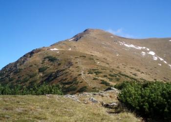Výstup na Baranec od Holého vrchu.