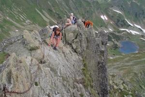 Nejobtížnější místo Roháče - ostrý vrcholový hřebínek