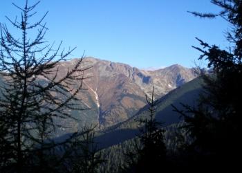 Príslop a Hrubá kopa - momentka z ranního stoupání na Baranec