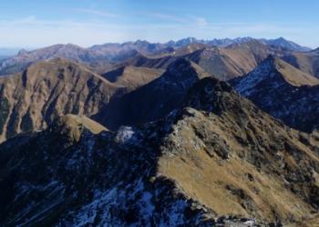 Panorama Roháčů z Hrubé kopy